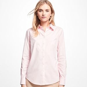 NWOT Brooks Brothers Fitted No-Iron Pink Shirt